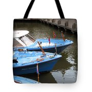 Boats In Amsterdam. Holland Tote Bag