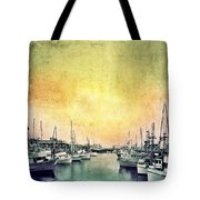 Boats In The Harbor Tote Bag