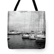 Boats Meeting Tote Bag