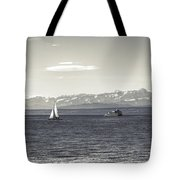boats on Lake Constance Tote Bag