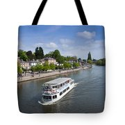 Boats On River Dee Tote Bag