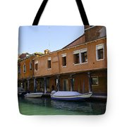 Boats On The Canal - Venice Tote Bag