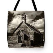 Bodie Church Sepia Tote Bag