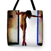 Body Painting Tote Bag
