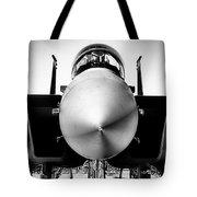 Boeing F-15sg Eagle Black And White Tote Bag
