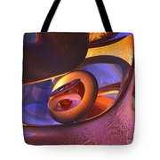 Bold Contagion Abstract Tote Bag