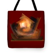Bold Shapes On Red Tote Bag