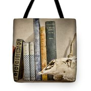 Bone Collector Library Tote Bag by Heather Applegate