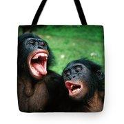 Bonobo Pan Paniscus Juvenile Pair Tote Bag