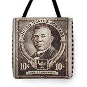Booker T Washington Postage Stamp Tote Bag