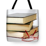 Books And Glasses Tote Bag