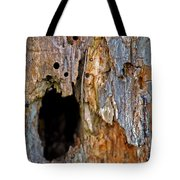 Bored By Woodpeckers Feeding Tote Bag