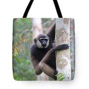 Bornean White-bearded Gibbon Tote Bag