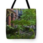 Boston Beacon Hill Street Scenery Tote Bag