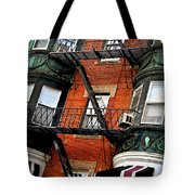 Boston House Fragment Tote Bag by Elena Elisseeva