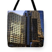 Boston Light Reflection And Stone Tote Bag