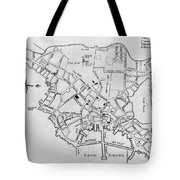 Boston: Map, 1770 Tote Bag