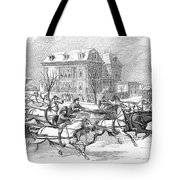 Boston: Sleighing, 1854 Tote Bag