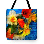 Botanical Graffiti  Tote Bag