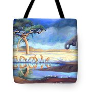 Botswana Watering Hole Tote Bag