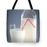 Bottle And Glass Of Milk Tote Bag
