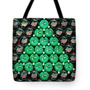 Bottle Caps Christmas Tree Tote Bag