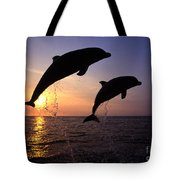 Bottlenose Dolphins Tote Bag by Francois Gohier and Photo Researchers