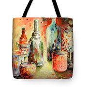 Bottles And Glasses And Mugs 03 Tote Bag