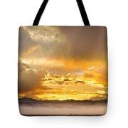 Boulder Colorado Flagstaff Fire Sunset View Tote Bag