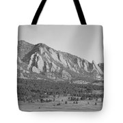 Boulder Colorado Flatiron Scenic View With Ncar Bw Tote Bag