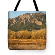 Boulder Colorado Flatiron View From Jay Rd Tote Bag