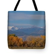 Boulder County Colorado Continental Divide Autumn View Tote Bag