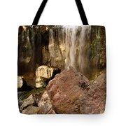 Boulders Under The Falls Tote Bag