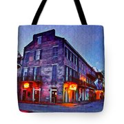 Bourbon Street In The Quiet Hours Tote Bag