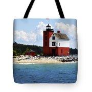 Round Island Light House Michigan Tote Bag