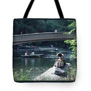 Bow Bridge In Central Park Nyc Tote Bag