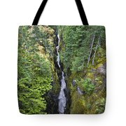 Box Canyon With Flowing Stream, Mount Tote Bag
