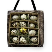 Box Of Quail Eggs Tote Bag