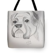 Boxer No Crop Tote Bag by Maria Urso