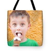 Boy Having Ice Cream Tote Bag