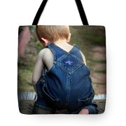 Boy In Overalls Tote Bag