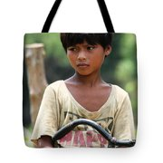 Boy On A Bike Tote Bag