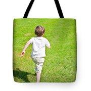 Boy Running Tote Bag