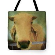 Brahma Cow Greeting Tote Bag