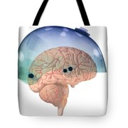 Brain In Skateboard Helmet Tote Bag