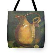 Brass And Tomatillos Tote Bag by Lilibeth Andre