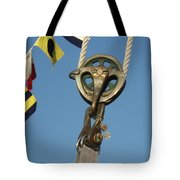 Brass Block With Flags Tote Bag