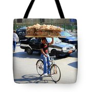 Bread On A Bicycle Tote Bag