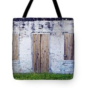 Brick And Wooden Building Tote Bag