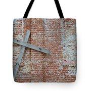Brick Wall Cross Tote Bag